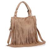 Стильная женская сумка с длинной бахромой В Наличии
