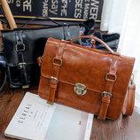 Лакированная деловая сумка рюкзак трансформер В Наличии