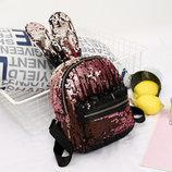 Красочные рюкзаки с пайетками и заячими ушками В Наличии