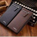 Мужской портмоне клатч кошелек Baellerry Italia черный и коричневый