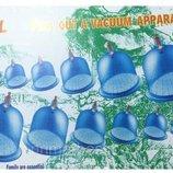 Вакуумные антицеллюлитные массажные банки 6 штук с насосом