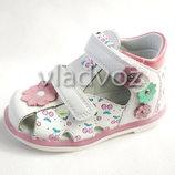 Детские босоножки сандалии для девочек белые Tom.M 21-26 3821