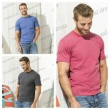 Мужские футболки. Синий меланж, красный меланж, серый меланж.