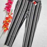 Шикарные модные стильные брюки бананы в широкую полоску полоску George.
