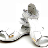 Туфли босоножки кожаные для девочки, новые, белые Тм Берегиня 32,33,34,35