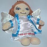 новая мягкая игрушка кукла ангел с крыльями и волосами оригинал фирменная сша