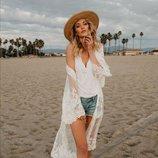 Солнцезащитная одежда длинный кружевной кардиган пляжная мода