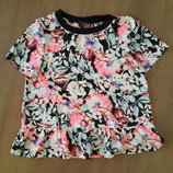 Яркая шифоновая блузка футболка размер 38-40
