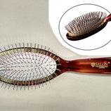 Расческа массажная для волос Salon Professional 6233 TTH, янтарная