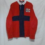 Регбийка джемпер-поло юбилейная красно-синяя Polo by Ralph Lauren 50-54р