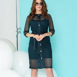 Модное платье-двойка Жоли платье-чехол накидка