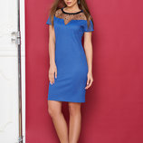 Платье-Футляр с завышенной талией, р.44-54, цвета