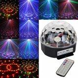 Светодиодный диско шар LED Ball Light с MP3, USB и SD