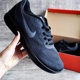 Кроссовки мужские сетка Nike Free RN black