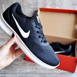 Кроссовки мужские сетка Nike Free RN black/white