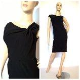 новое женское черное платье миди uk 8