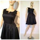 женское черное платье в стиле baby doll пышная юбка S