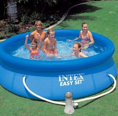 Intex 28112 244х76 см. насос. Надувные бассейны серии Easy Set Pool