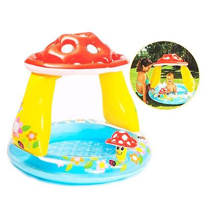 Intex 57114 102х89 см. Детский надувной бассейн «Грибочек»