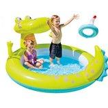Детский надувной бассейн Intex 57431 Крокодил 198-160-91 см