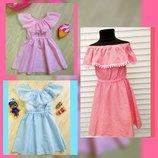 Летние платья для малышек.Р.104-122