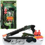 Набор полиции M 0259 U/R для мальчиков ружьё, очки, пистолет, дубинка, наручники