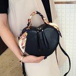 Женская сумка Сердце JingPin черная