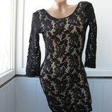 Платье гипюровое с открытой спиной H&M