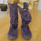 Чоботи замшеві фіолетові розмір 5 на 38 стелька 25 см Footglove
