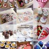Подарочный набор на день рождения из кейкпопсов, капкейков, цветов и шоколадок заказать Киев, подаро