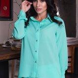 Женская летняя рубашка блузка с длинным рукавом креп шифон длинные женские летние рубашки блузки