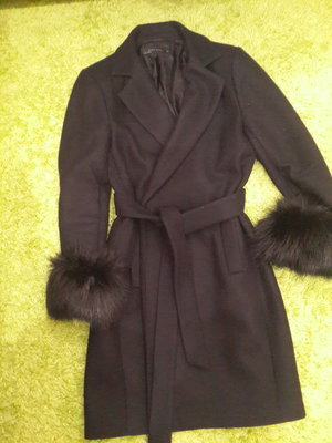 Шикарное элегантное пальто на запах под пояс бренд Zara размер М