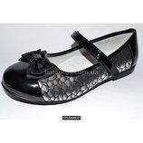 Нарядные туфли для девочки, 26-31 размер, кожаная стелька, супинатор, на выпускной, 105-0446-01