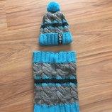 Фирменный комплект зимний шапка и хомут