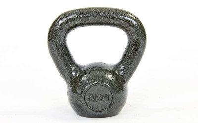 Гиря чугунная окрашенная черная 1815-4 вес 4кг, чугун