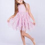 Нарядное платье праздничное, выпускное, нежное, р. 120 см.