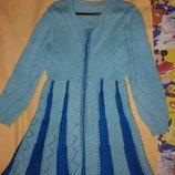 Кардиган теплый, вязаное платье, кофта