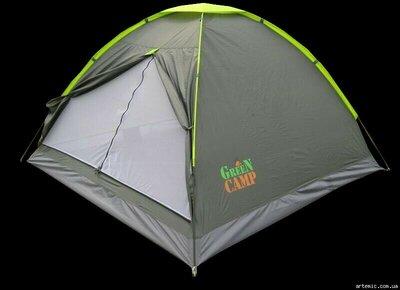 Палатка трехместная GreenCamp 1012 подарок