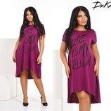 Платье женское батал 3 цвета 4117дг
