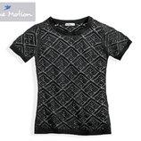 Ажурная футболка вязка 100% хлопок.Blue Motion.Германия.р.евроS,M