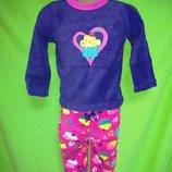 Пижама флисовая на девочку, пироженое в сердечке, Healthtex р.18, 24мес