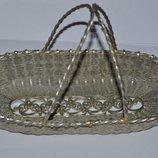 необычная красивая ваза корзинка металл скань отличное состояние винтаж