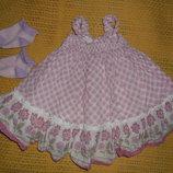 Пакет вещей девочке 0-3мес, боди, человечек, платьице, панамка