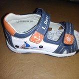 Кожаные босоножки 22-27 р. B&G на мальчика, сандалии, би-джи, хлопчик, босоніжки, сандалі, открытые