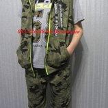 Новинка летние костюмы троечки в стиле милитари для мальчиков р. 116,122,134
