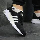 Кроссовки мужские сетка Adidas Climacool black/white