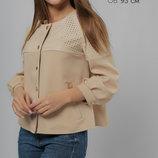 Стильный молодёжный пиджак свободного кроя 44-48р