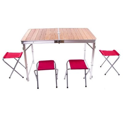 Стол туристический, 4 стула