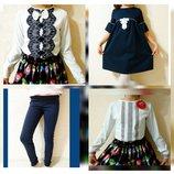 Одежда для школы от производителя Р.122-152 Блузки,платья,лосины