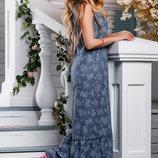 Длинное элегантное платье на лето 976